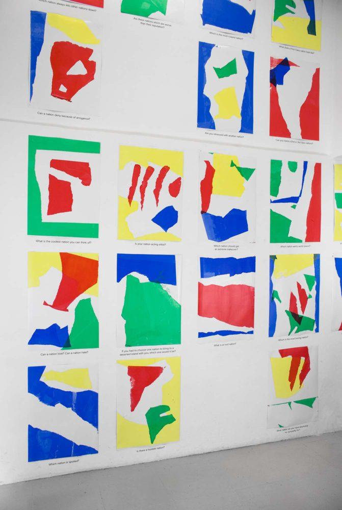 Graphic designer Aleksandar Todorović silkscreened 59 various posters for the Olympic Games in Barcelona